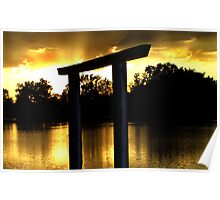 Golden Evening - Sunset Fremont State Lakes  Poster