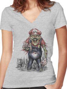 Return of the Living Dead Plumber Women's Fitted V-Neck T-Shirt
