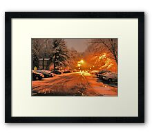 """A Snowy Evening in Knoxville (no.1, from this series)""... prints and products Framed Print"