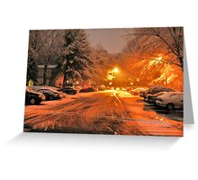 """A Snowy Evening in Knoxville (no.1, from this series)""... prints and products Greeting Card"