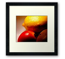 What the hell is a tamarillo anyway? Framed Print