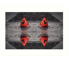 Cardinal Collage Art Print