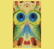 The Owl - Abstract Bird Art by Sharon Cummings Kids Tee