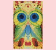 The Owl - Abstract Bird Art by Sharon Cummings One Piece - Long Sleeve