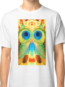 The Owl - Abstract Bird Art by Sharon Cummings Classic T-Shirt