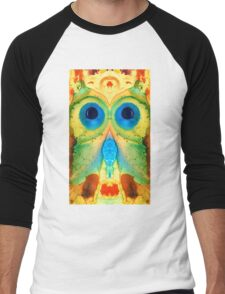 The Owl - Abstract Bird Art by Sharon Cummings Men's Baseball ¾ T-Shirt