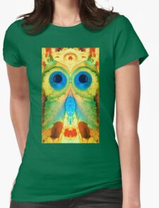 The Owl - Abstract Bird Art by Sharon Cummings Womens Fitted T-Shirt