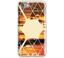 Nature and Geometry - Sunset Sky iPhone Case/Skin