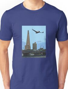 Flying past the Shard in 2020 Unisex T-Shirt