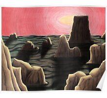 Alien Landscape Poster