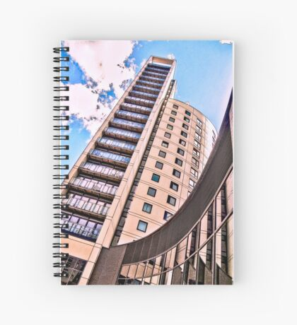 High rise living in Clarence Dock, Leeds. Spiral Notebook