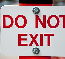 Do Not Exit by Terry Runion