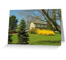 Hilltop Farmhouse Greeting Card