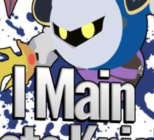 I Main Meta Knight - Super Smash Bros. Sticker