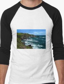 The Lizard Point, Cornwall Men's Baseball ¾ T-Shirt