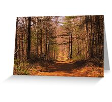 Narrow Road Greeting Card