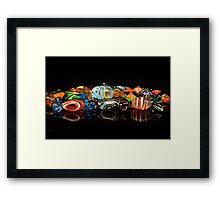 Glass candy Framed Print