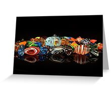 Glass candy Greeting Card