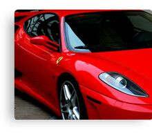 Little Red Sports Car Canvas Print