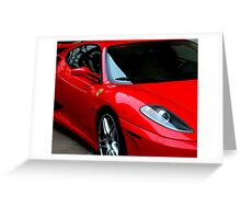 Little Red Sports Car Greeting Card