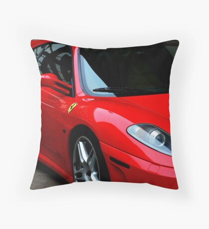 Little Red Sports Car Throw Pillow
