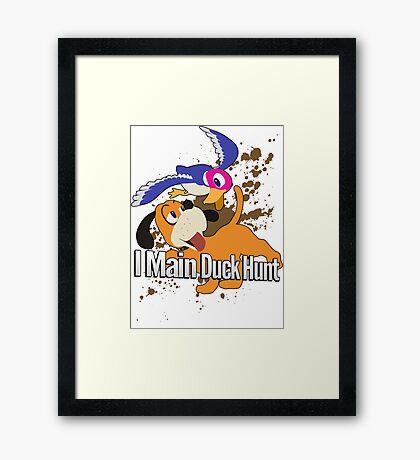 I Main Duck Hunt - Super Smash Bros. Framed Print