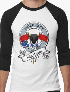 00066 Green Macleod Clan/ Family Tartan  Men's Baseball ¾ T-Shirt