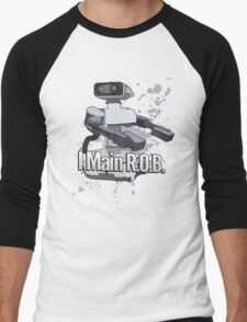 I Main R.O.B. - Super Smash Bros. Men's Baseball ¾ T-Shirt