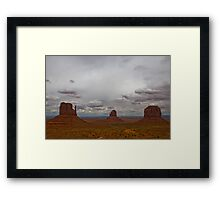Monument Valley Navajo Tribal Park - Lunchtime view Framed Print
