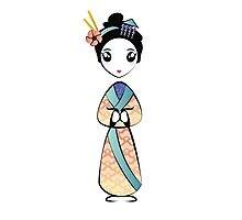 Little Geisha Girl Photographic Print