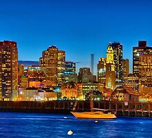 Boston skyline- Piers Park View  by LudaNayvelt