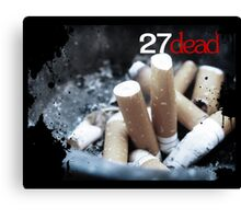 Addicted to Death Canvas Print