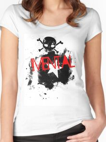 mental skull Women's Fitted Scoop T-Shirt