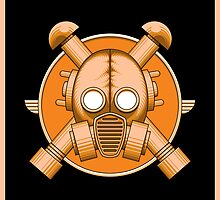 Art Deco Gasmask Orange II by Rustyoldtown