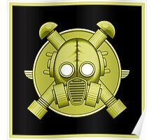 Art Deco Gasmask Combat Green II Poster
