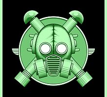 Art Deco Gasmask Green II by Rustyoldtown