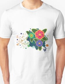 Tropical Flower and Floral Ornament 4 Unisex T-Shirt