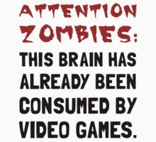 Attention Zombies Video Games Kids Clothes
