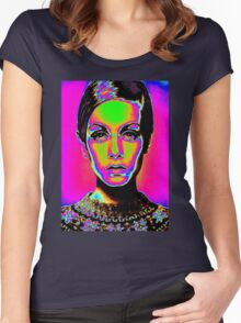 Pop Art fashion Women's Fitted Scoop T-Shirt