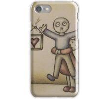 Cute Cartoon Drawing of Girl Hugging Boy iPhone Case/Skin