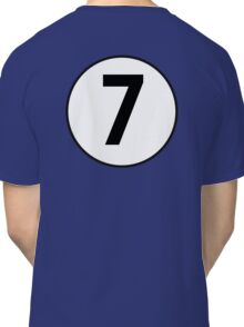 7, Seven, Seventh, Number, Number 7, Racing, Seven, Competition, on Navy Blue Classic T-Shirt