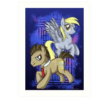 Dr Whooves and Derpy Art Print