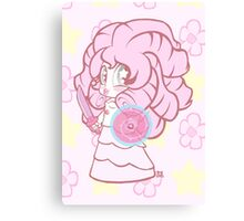 Weeny Gems- Rose Quartz Canvas Print
