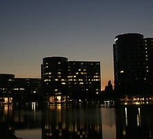 Oracle Headquarters at night by fototaker