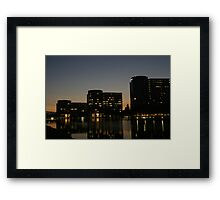 Oracle Headquarters at night Framed Print
