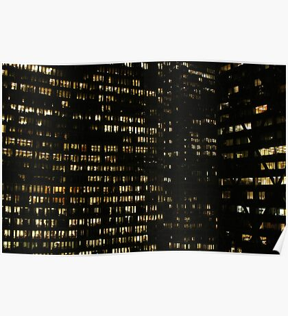 Wall of Lights Poster