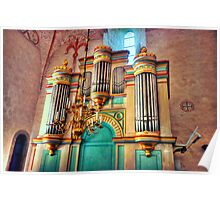 Church Pipe Organ Poster
