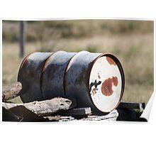 Rustic old drum Poster