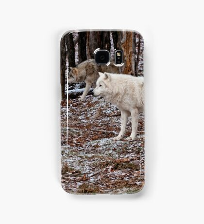 Arctic Wolves In The Woods Samsung Galaxy Case/Skin