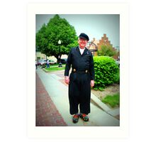 Dutchman In Pella Art Print